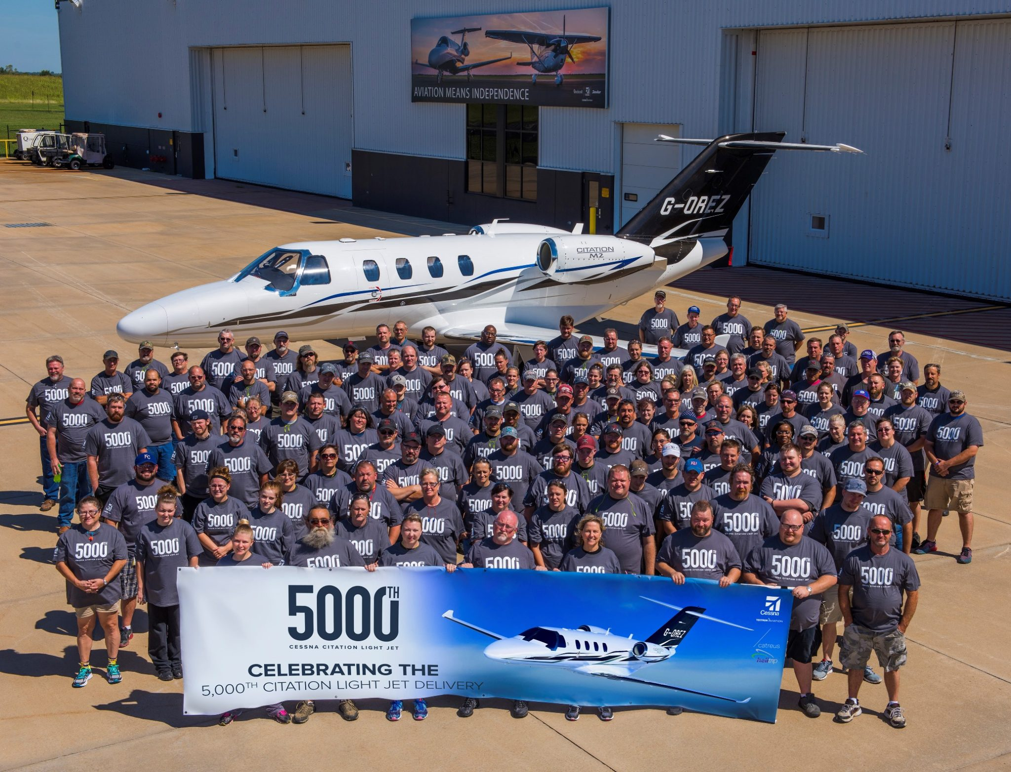 Cessna celebrates segment leadership with 5,000th Citation light jet delivery