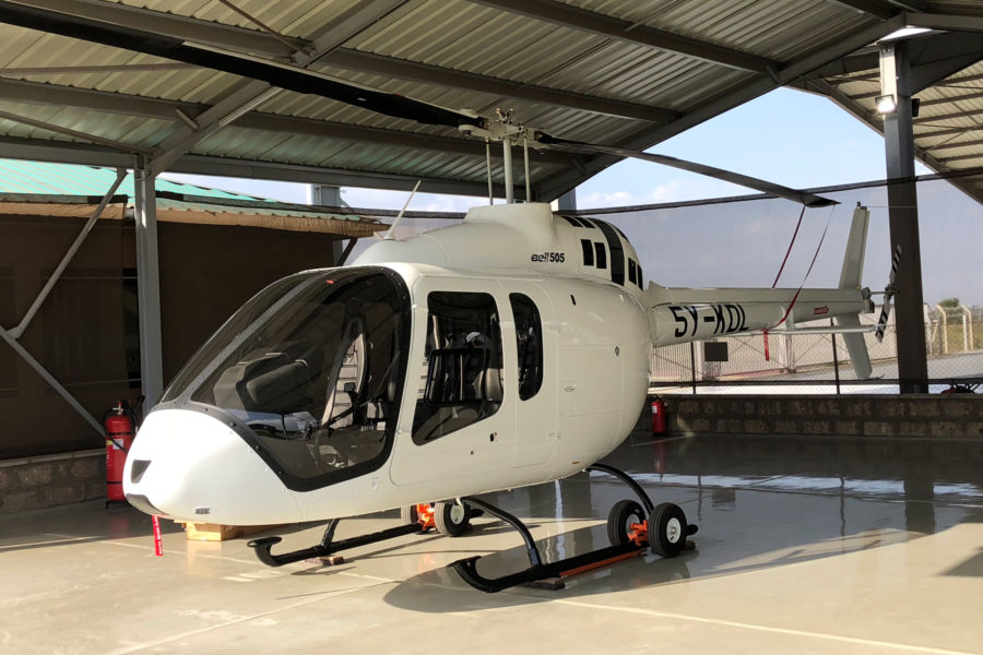 First Bell 505 Delivered into Kenya Arrives