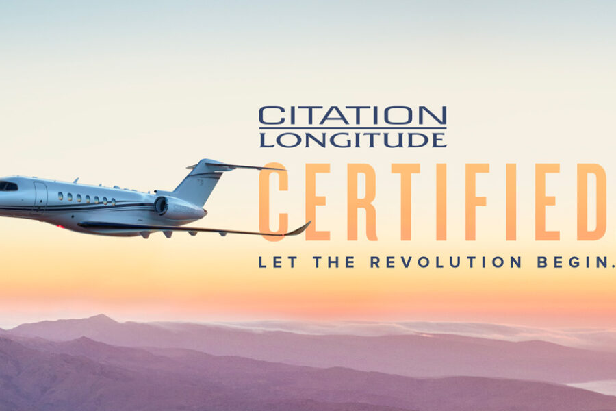 Cessna Citation Longitude business jet receives FAA Type Certification